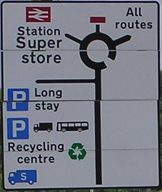 Barnstaple station direction sign